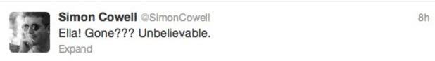 Simon Cowell tweet about Ella Henderson
