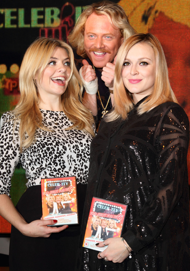 'Celebrity Juice: Too Juicy For TV 2' DVD signing at HMV Oxford StreetFeaturing: Holly Willoughby, Fearne Cotton, Leigh Francis aka Keith Lemon