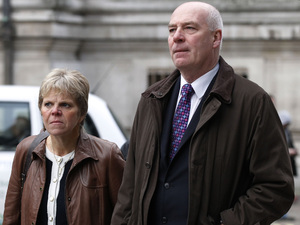 Bob and Sally Dowler, the parents of murdered schoolgirl Milly Dowler who provided testimony to the Leveson Inquiry, arrive at the Queen Elizabeth II Conference Centre in London