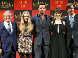 Cameron Mackintosh, Tom Hooper, Amanda Seyfried, Hugh Jackman, Anne Hathaway, Les Miserables, Tokyo