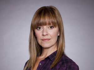 Zoe Henry as Rhona in Emmerdale
