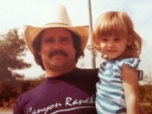 Ashley Roberts with her father
