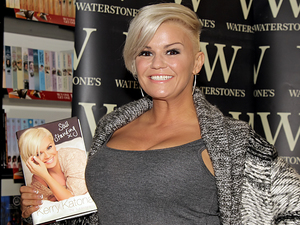 Kerry Katona meets fans and signs copies of her book 'Still Standing' at Birkenhead Waterstones