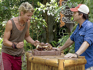 """Hell Hath Frozen Over"" - Carter Williams and Jeff Probst during the eleventh episode of Survivor: Philippines"