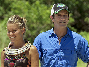 """Hell Hath Frozen Over"" - Jeff Probst awards Abi-Maria Gomes with the Immunity Idol during the eleventh episode of Survivor: Philippines,"