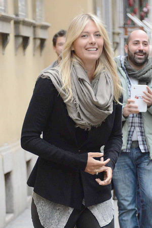 Maria Sharapova out and about in Italy.