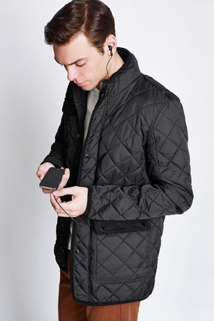C.VOX jacket featuring built-in headphones, speakers and a control system