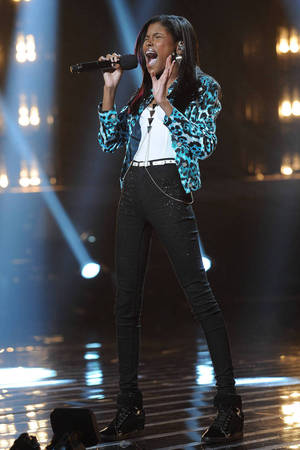 'The X Factor' USA TX November 29 - Diamond White in the sing-off