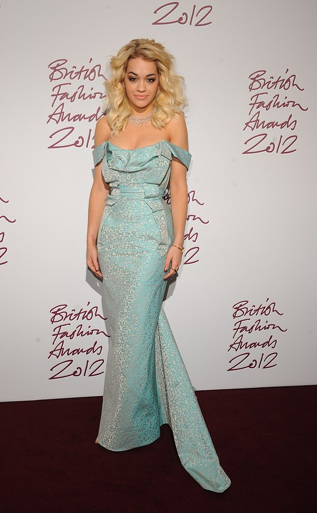 Rita Ora, British Fashion Awards 2012