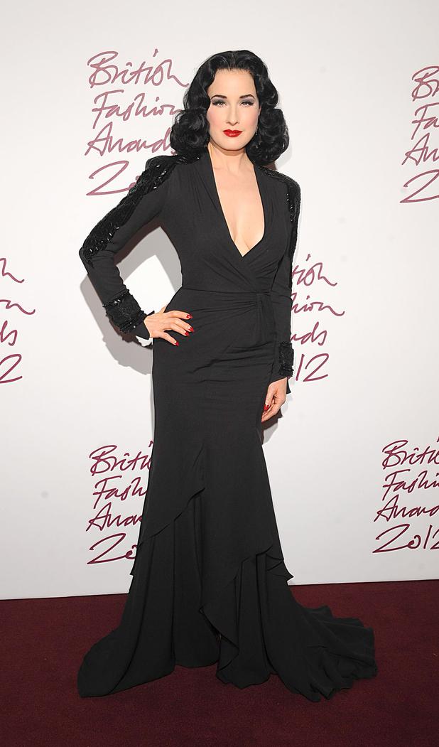 Dita Von Teese, British Fashion Awards 2012
