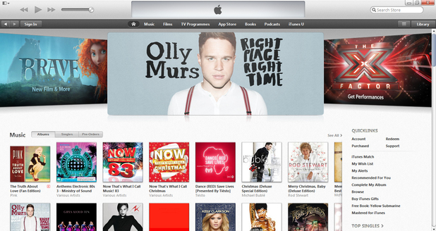 iTunes 11 - store front