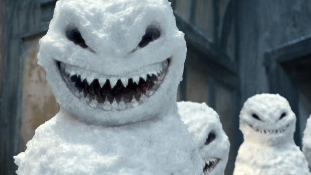 Doctor Who 'The Snowmen': Close-up image of the snowmen