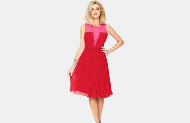 Fearne Cotton Pleated Occasion Dress