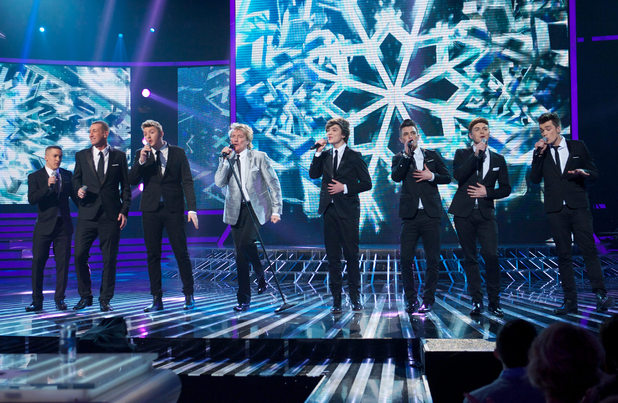 The X Factor: Rod Stewart and the finalists