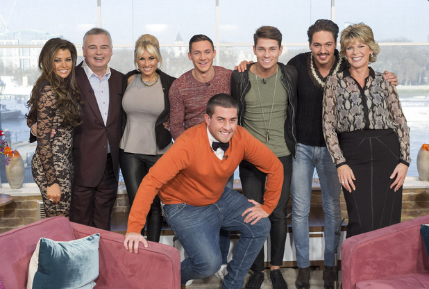 TOWIE cast on This Morning with Eamonn Holmes: Joey Essex, Billie Faiers, Arg, Mario Falcone, Jessica Wright, Kirk Norcross