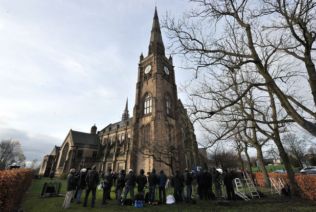 Corrie: Bill Tarmey's funeral