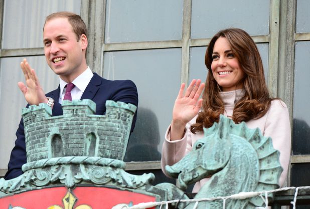 Kate Middleton and Prince William visiting Cambridge
