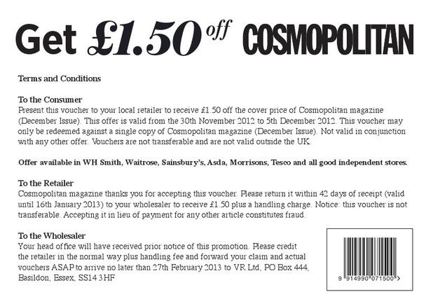 Cosmopolitan voucher