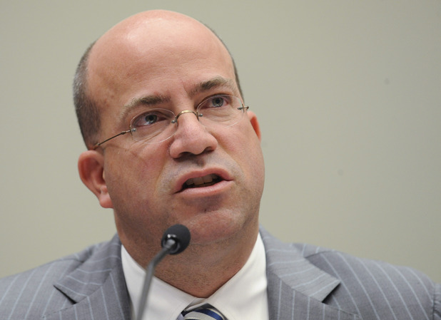 NBC Universal President and Chief Executive Officer Jeff Zucker testifies on Capitol Hill in Washington, Thursday, Feb. 25, 2010, during the House Judiciary Committee hearing on competition in the media and entertainment distribution market.