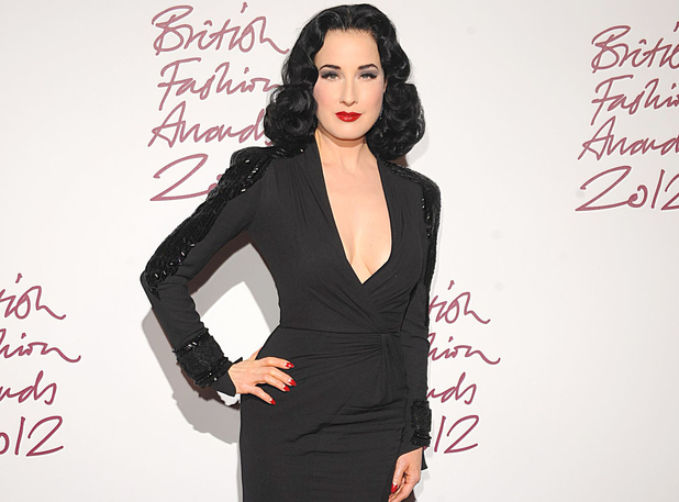 Dita Von Teese, British Fashion Awards 2012