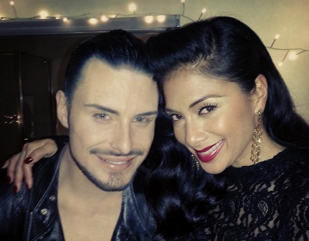 Nicole Scherzinger and Rylan Clark in a Twitter picture uploaded by the X Factor judge