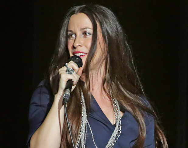 Alanis Morissette performing at the Liverpool Echo Arena