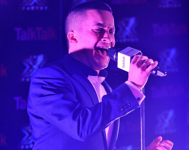 The X Factor's Jahmene Douglas at a TalkTalk Secret Gig (held on 29.11.2012)