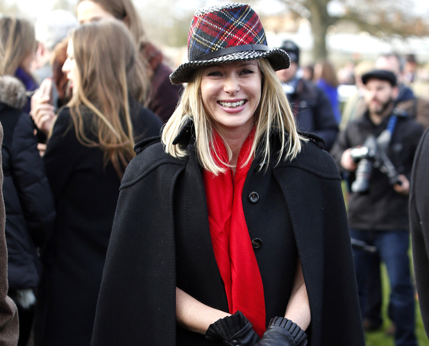 Amanda Holden enjoys the The Sportingbet Winter Festival in Berkshire.