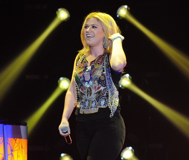 Kelly Clarkson performing live at Wembley Arena on the final date of her UK 'Stronger Tour 2012' London, England - 20.10.12 Credit: (Mandatory): Danny Clifford/Hottwire.net/WENN.com