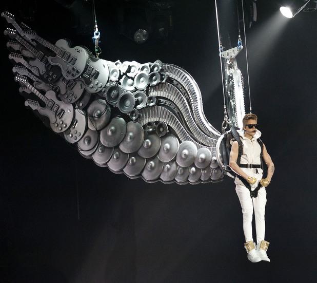 Justin Bieber performing in concert at Madison Square Garden New York City, USA - 28.11.12 Mandatory Credit: WENN.com