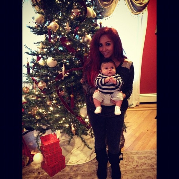 Snooki with baby Lorenzo