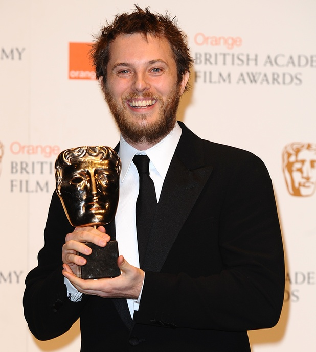Duncan Jones with the award for Outstanding Debut by a British writer, director or producer at the Orange British Academy of Film Awards, at The Royal Opera House, London.