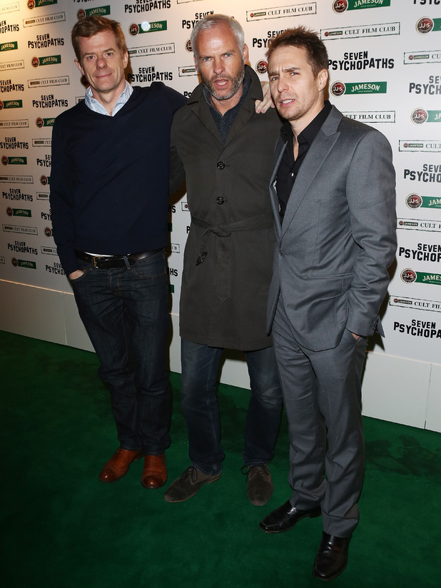 Seven Psychopaths premiere Graham Broadbent, Martin McDonagh, Sam Rockwell