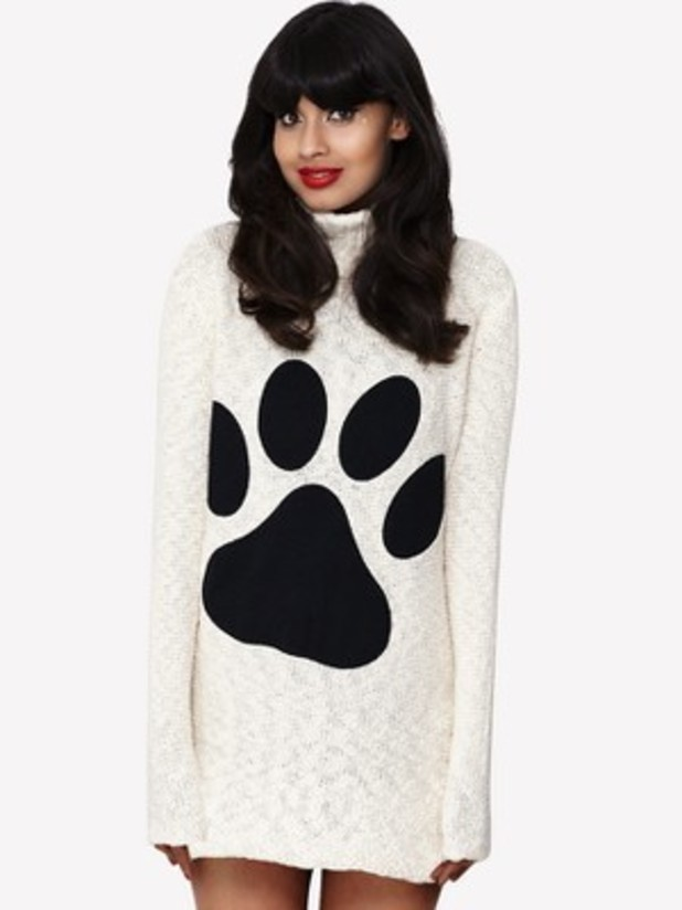 Jameela Jamil Paw Applique Jumper Dress