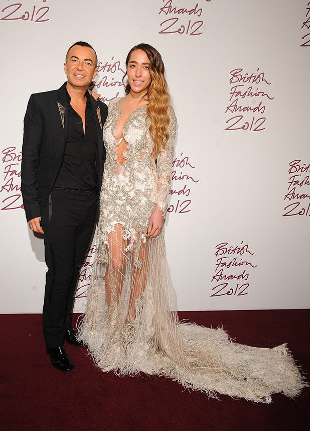 Julien MacDonald, Delilah, British Fashion Awards 2012