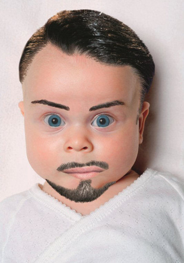 Now Magazine's mock up of what Rylan Clark's baby might look like