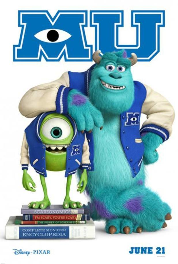 Monsters university teaser posters released by pixar