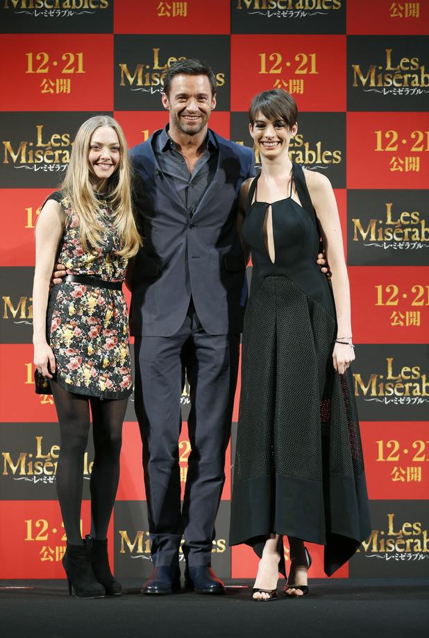 Anne Hathaway, Amanda Seyfried, Hugh Jackman, 'Les Miserables', Tokyo