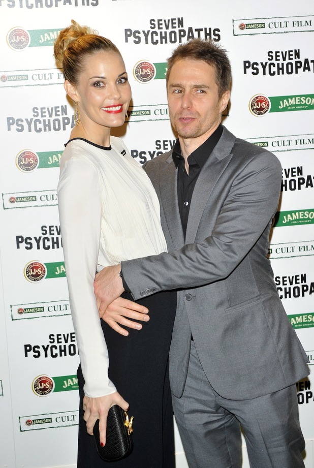 Sam Rockwell and Leslie Bibbattend the Jameson Cult Film Club gala premiere of 'Seven Psychopaths'