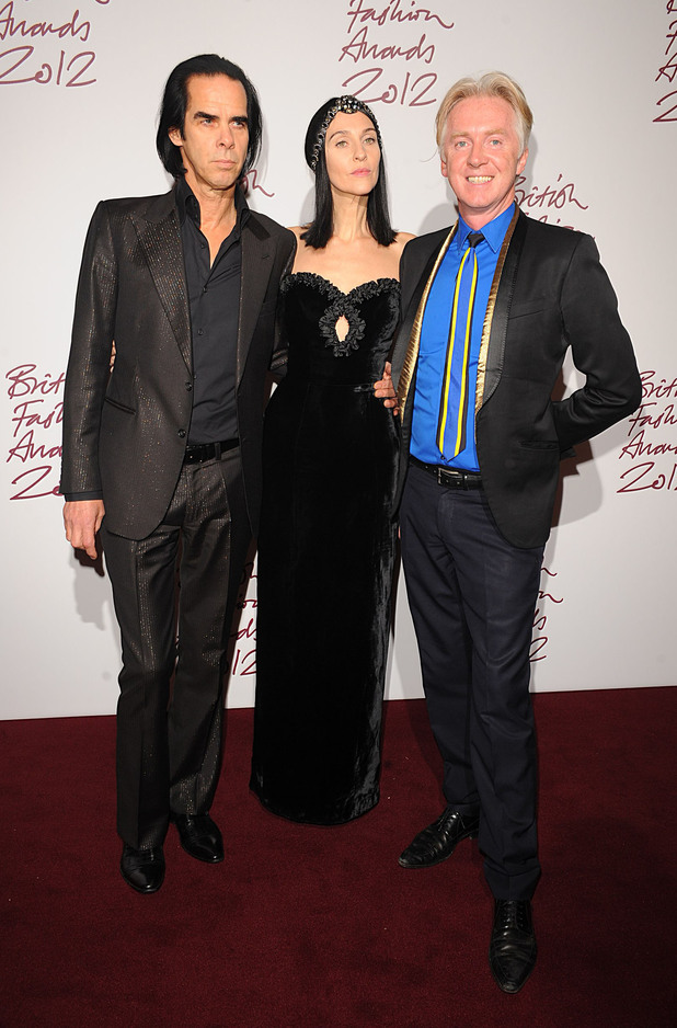 Nick Cave, Susie Bick, Philip Treacy, British Fashion Awards 2012