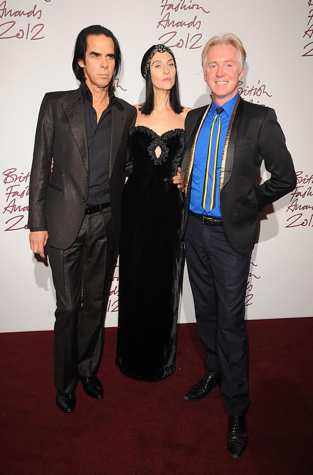 Nick Cave, Susie Bick, Philip Treacy, British Fashion Awards 2012