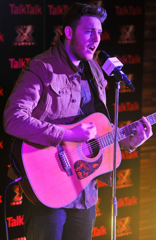 The X Factor's James Arthur at a TalkTalk Secret Gig (held on 29.11.2012)