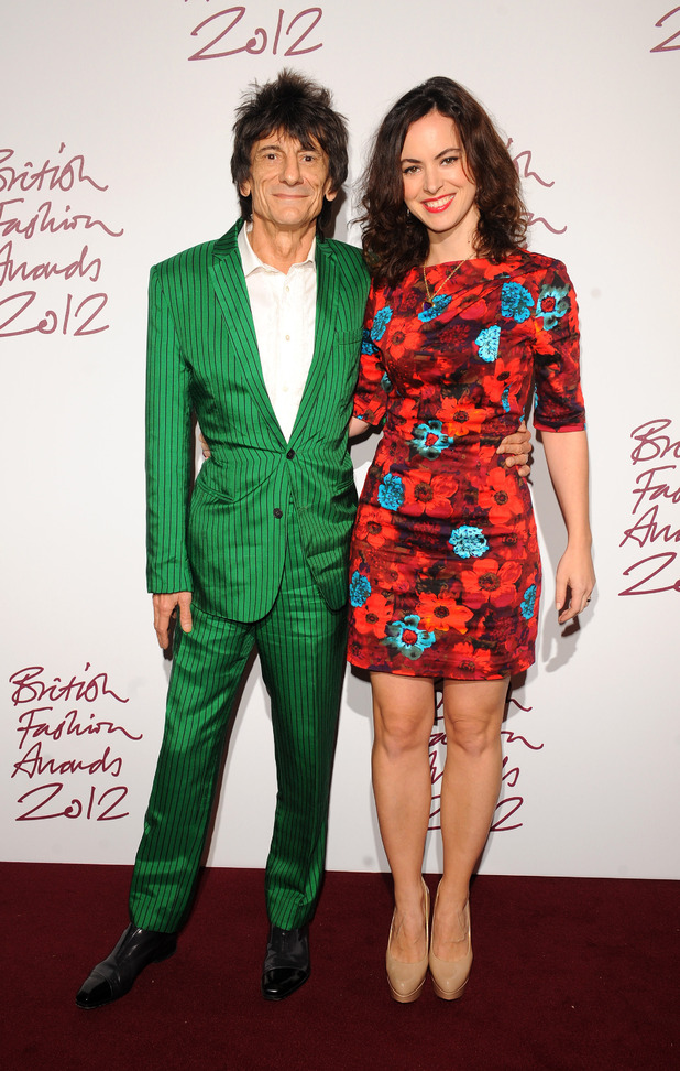Ronnie Wood, Sally Humphreys, British Fashion Awards 2012