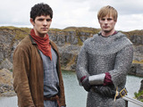 Merlin S05E09 - &#39;With All My Heart&#39;: King Arthur Pendragon (Bradley James), Merlin (COLIN MORGAN)
