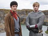 Merlin S05E09 - 'With All My Heart': King Arthur Pendragon (Bradley James), Merlin (COLIN MORGAN)
