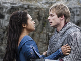 Merlin S05E09 - 'With All My Heart': King Arthur Pendragon (Bradley James), Gwen (ANGEL COULBY)