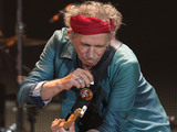 Keith Richards of The Rolling Stones performing at the O2 Arena in London, as part of their 50th anniversary series of concerts