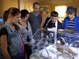 6423: At the hospital, Jude Christens baby Archie with Rachel her family present