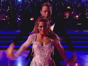 Derek Hough defends the duo's decision to break the rules in their quickstep.
