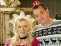 First look images from the BBC comedy shows' festive specials.